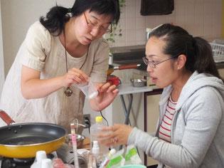 手作りせっけん教室  HeartWing  松本珠水さん